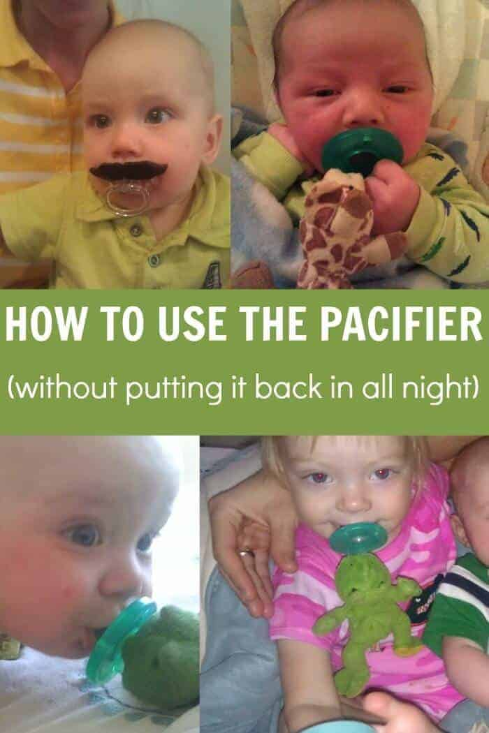 Using the pacifier without having to put it back in all night