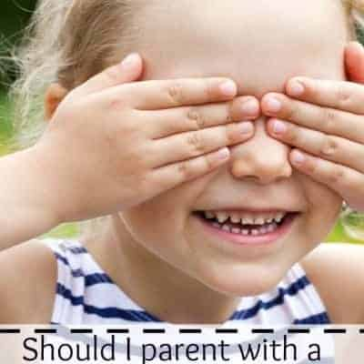 Should I parent by instinct or with a plan?