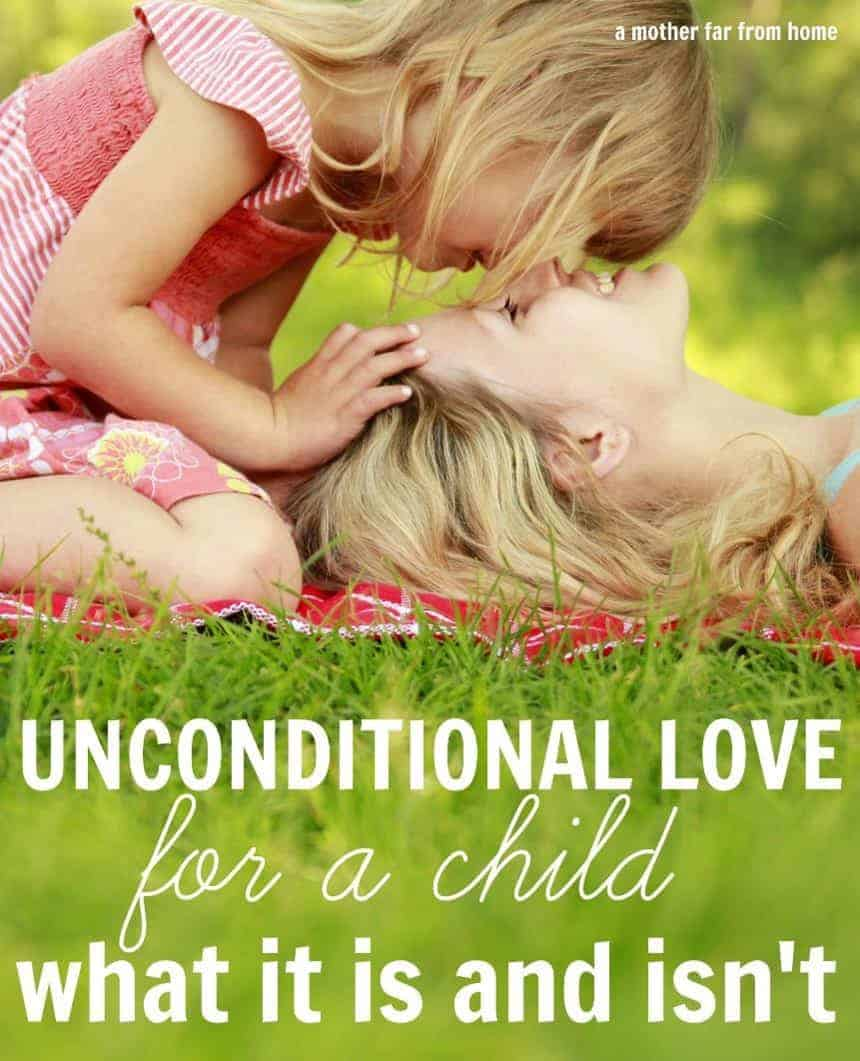 Unconditional love for a child, what it is and what it isnt. Great read for moms everywhere