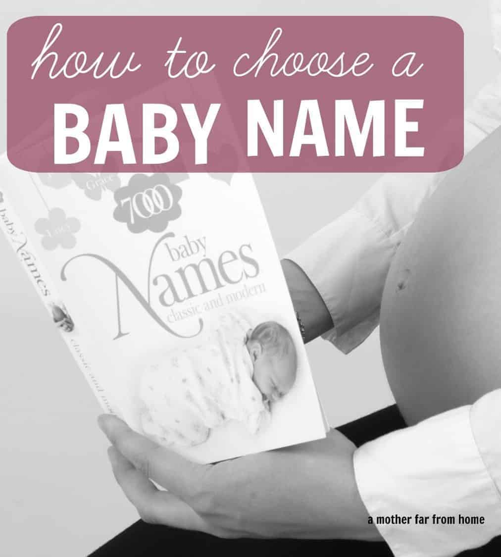 Great post on ho to choose a baby name for your little one