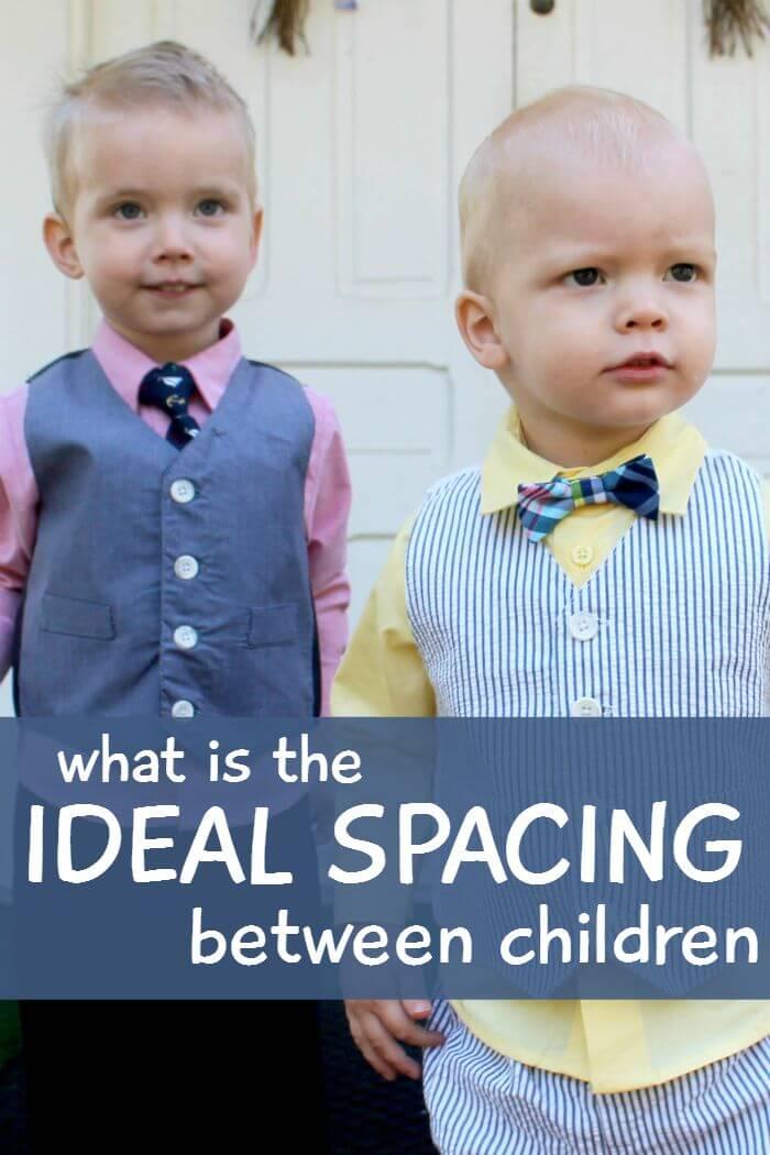 what is the ideal spacing between chidren