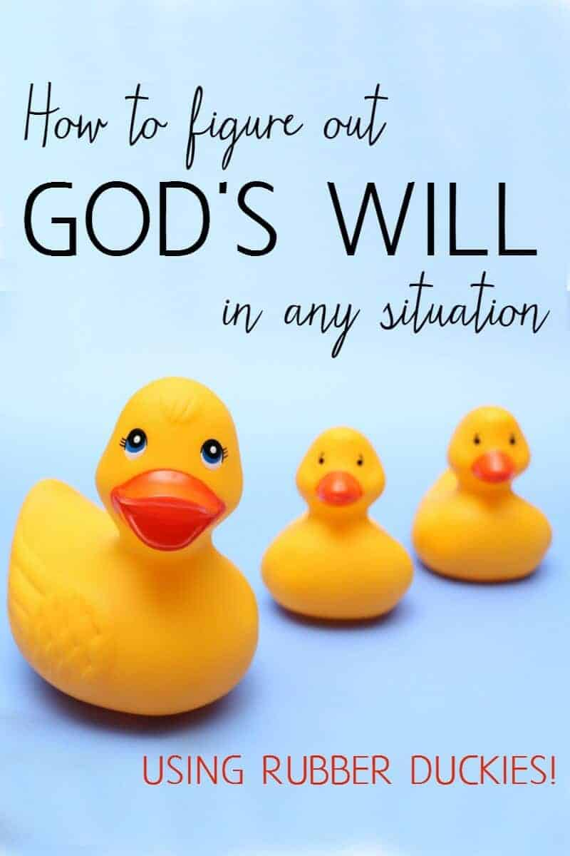 how to figure out God's will in any situation