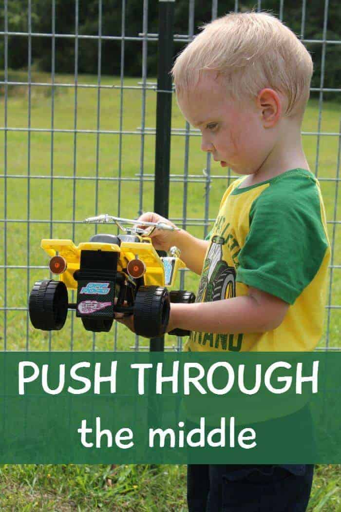 When it gets hard and we feel like giving up, here are some reasons and situations when we have to just push through the middle!