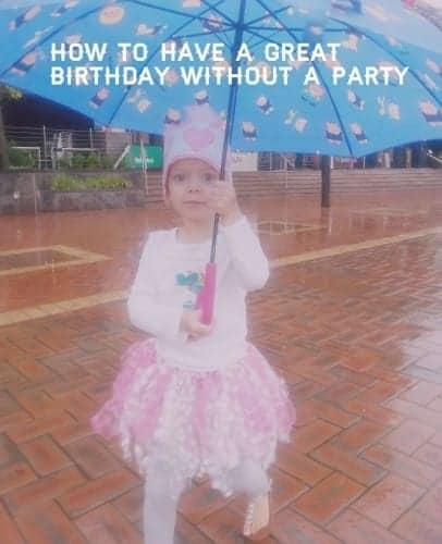 How to have a great birthday without a party