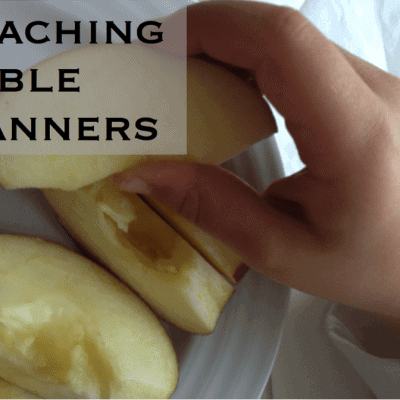 Teaching table manners