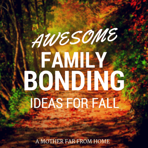 Awesome Family Bonding Ideas for Fall. Activities with the kids and for the whole family, from inside to outside crafts to nature walks. #kids #family #fun #fall #activities #bucketlist