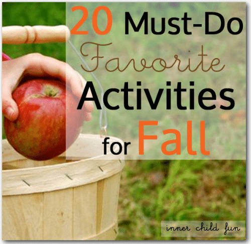 20 must do family activities for fall #family #fun #fall #autumn