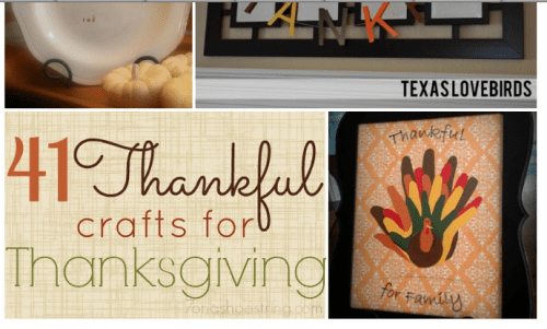 41 thankful crafts to do with kids for Thanksgiving #crafts #kids #family #fun #autumn #Thanksgiving