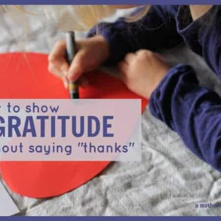 "Communicating gratitude without saying ""thanks"""