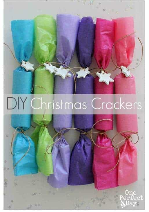 Make DIY Christmas crackers as part of your family Christmas tradition. It's inexpensive, easy and doubles as table decoration!