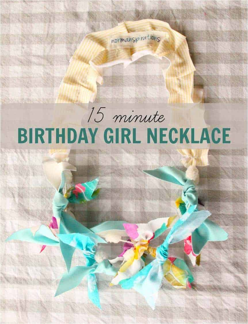 Birthday Girl Necklace 15 Minute Diy Project A 3 Year Old Can Help Do