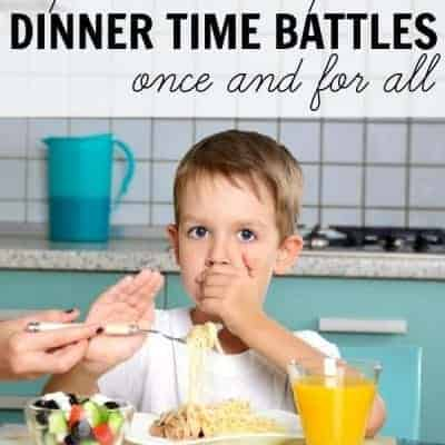 5 phrases to stop dinner time battles once and for all