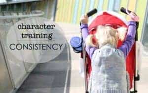 Character training in small children, consistency