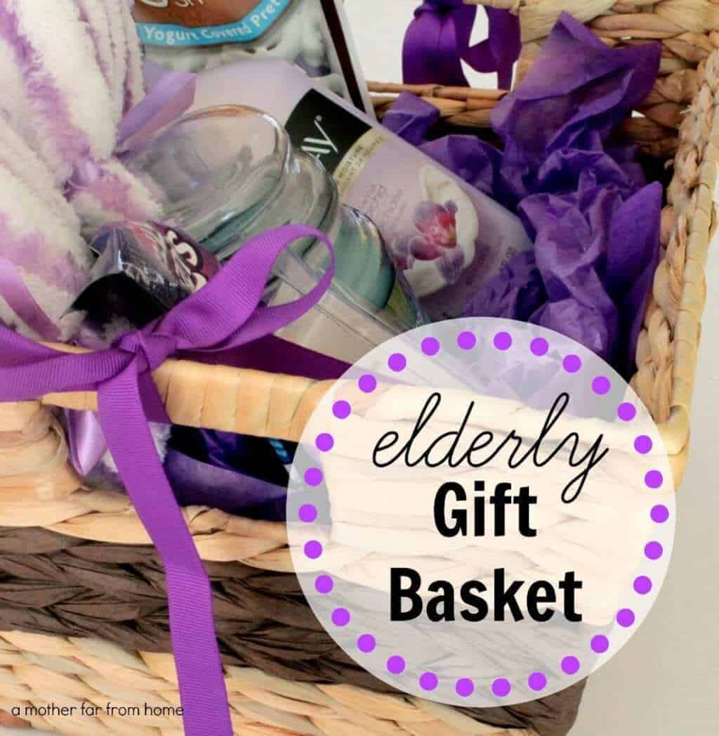 DIY gift basket for the elderly