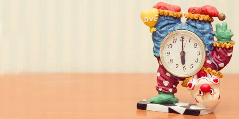 clown clock, baby schedule considerations