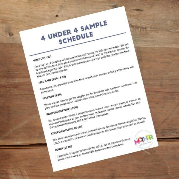 A Foolproof Sample Daily Schedule For Toddlers Printables Included