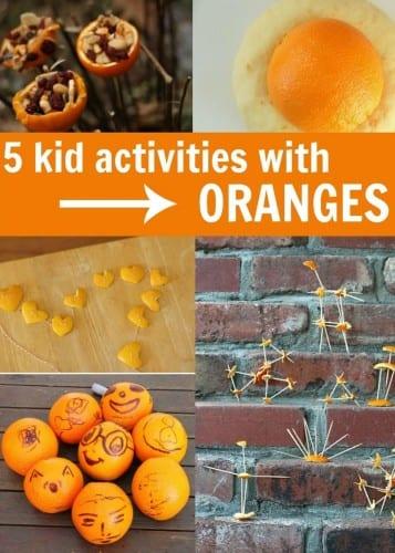 5 kid activities using oranges