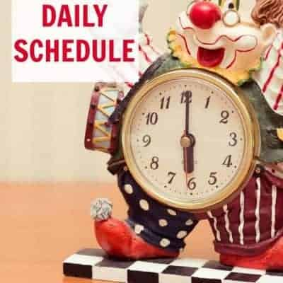Sample daily schedule for 4 kids (4 and under)