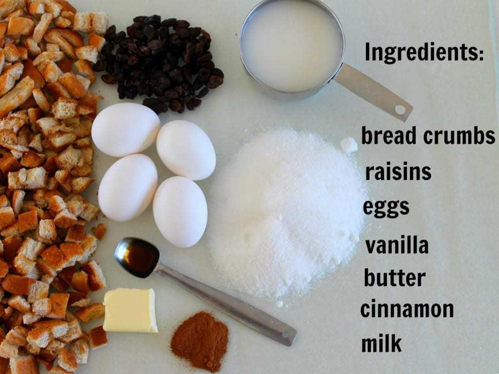 bread pudding ingredients 9