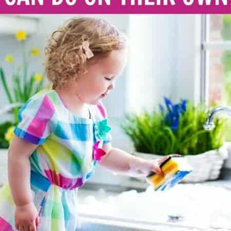 Chores 2 & 3 Year Olds Can Do On Their Own – A Big List!