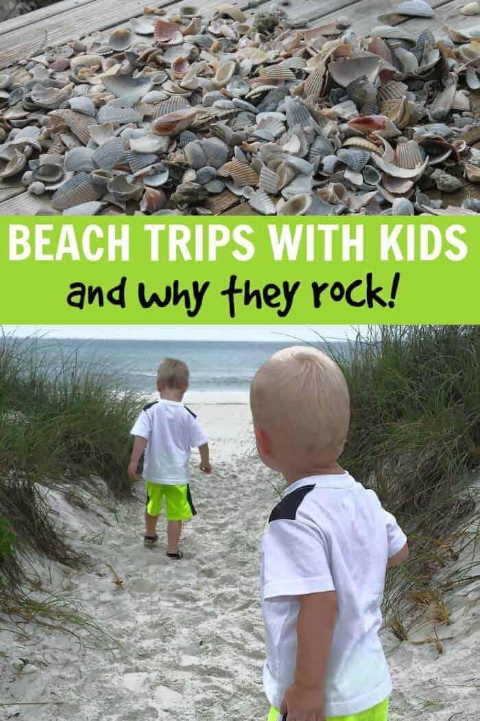 beach trips with kids