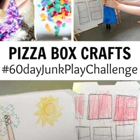 DIY pizza box crafts