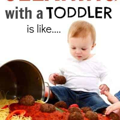 Cleaning the house with a toddler is like…