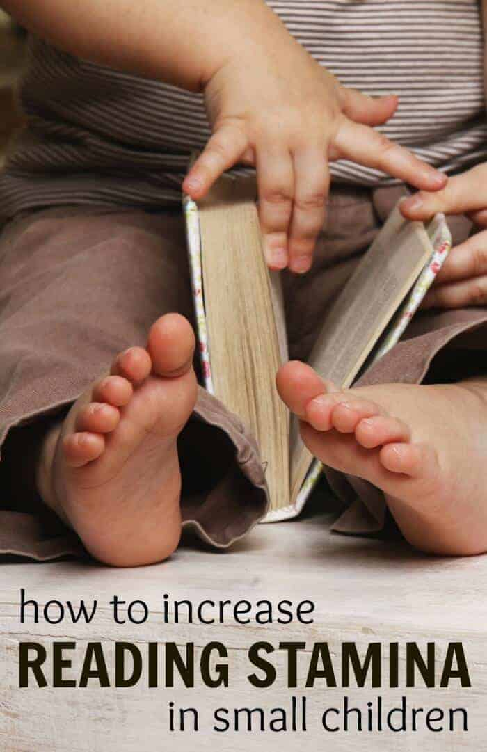 Here are some tips on increasing reading stamina and comprehension in small children to set the up for a love of reading from a early age :)