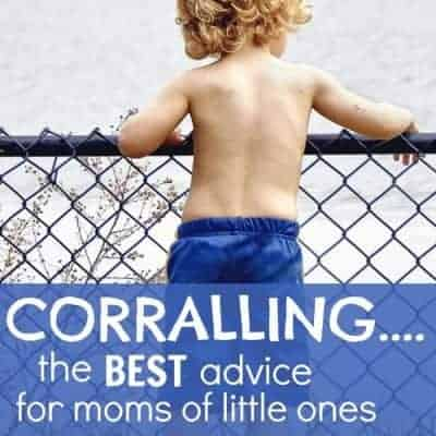 My #1 tip for babies close together in age: corralling