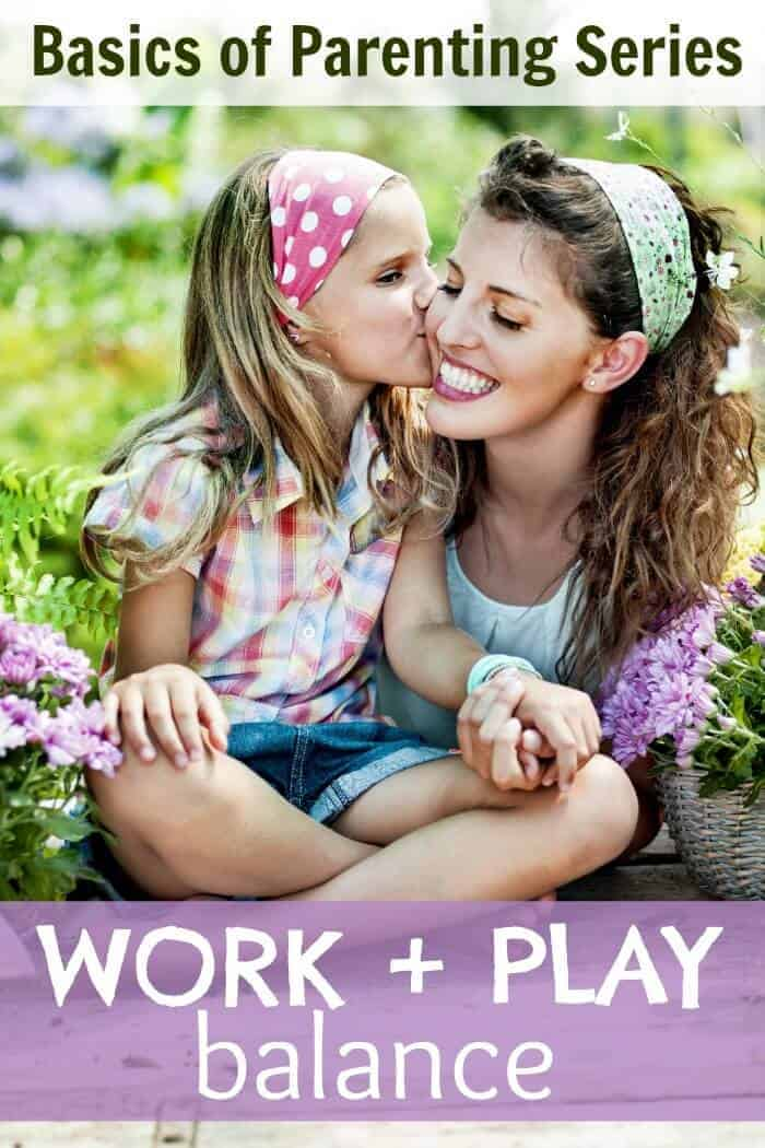 The work and play balance can be elusive for a mom. Both necessary but how to juggle it all? Here's the next installment for my Back to Basics of Parenting week .