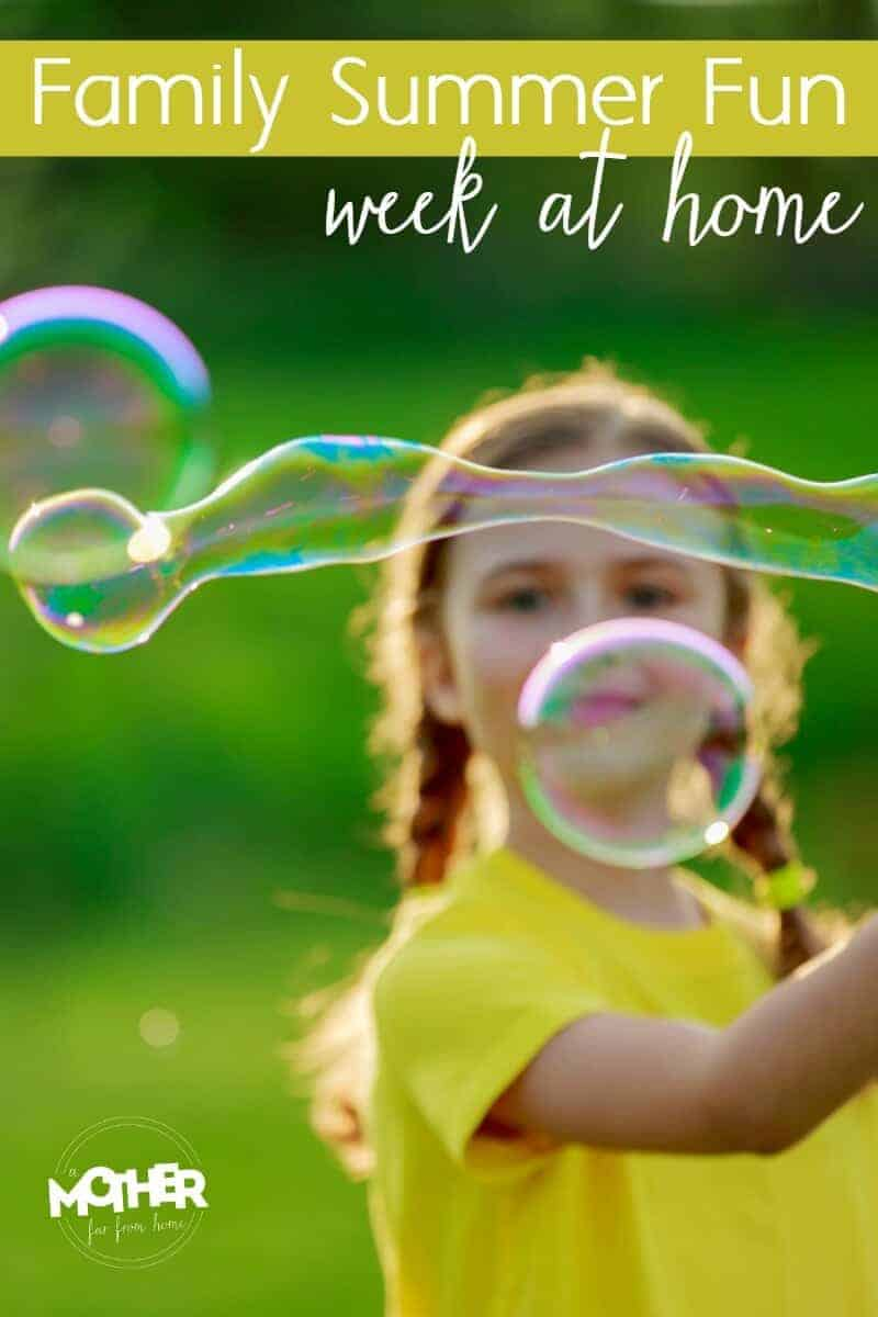 Don't want to send the kids away for a week to camp? Have one at home instead! Great for toddlers and preschoolers.