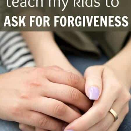 Why I won't teach my kids to ask for forgiveness