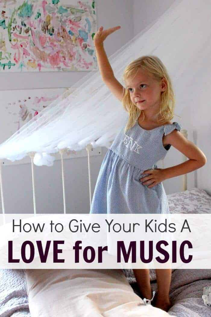 How to instil in your children a love for music that will, hopefully, last them a lifetime. Music is such an important part of life and here's how to expose your kids naturally.