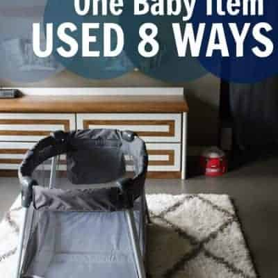 One Baby Item Used 8 Ways