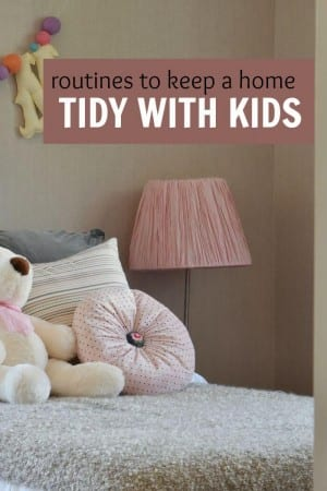 routines to keep a home tidy
