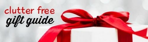clutter free gift guide header