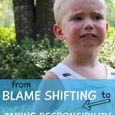How to Stop Your Children From Blame Shifting and Start Taking Responsibility for Their Actions