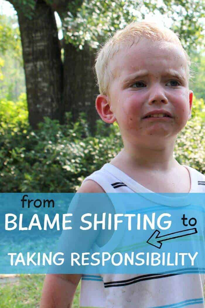 from blame shifting to taking responsibility
