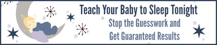 Teach Your Baby to Sleep Tonight 750 x 150 Sales Page