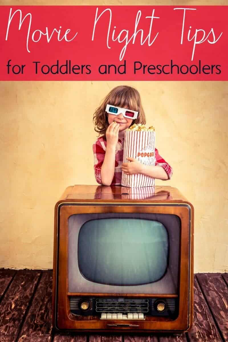 Tips and ideas for family movie night with toddlers and preschoolers.
