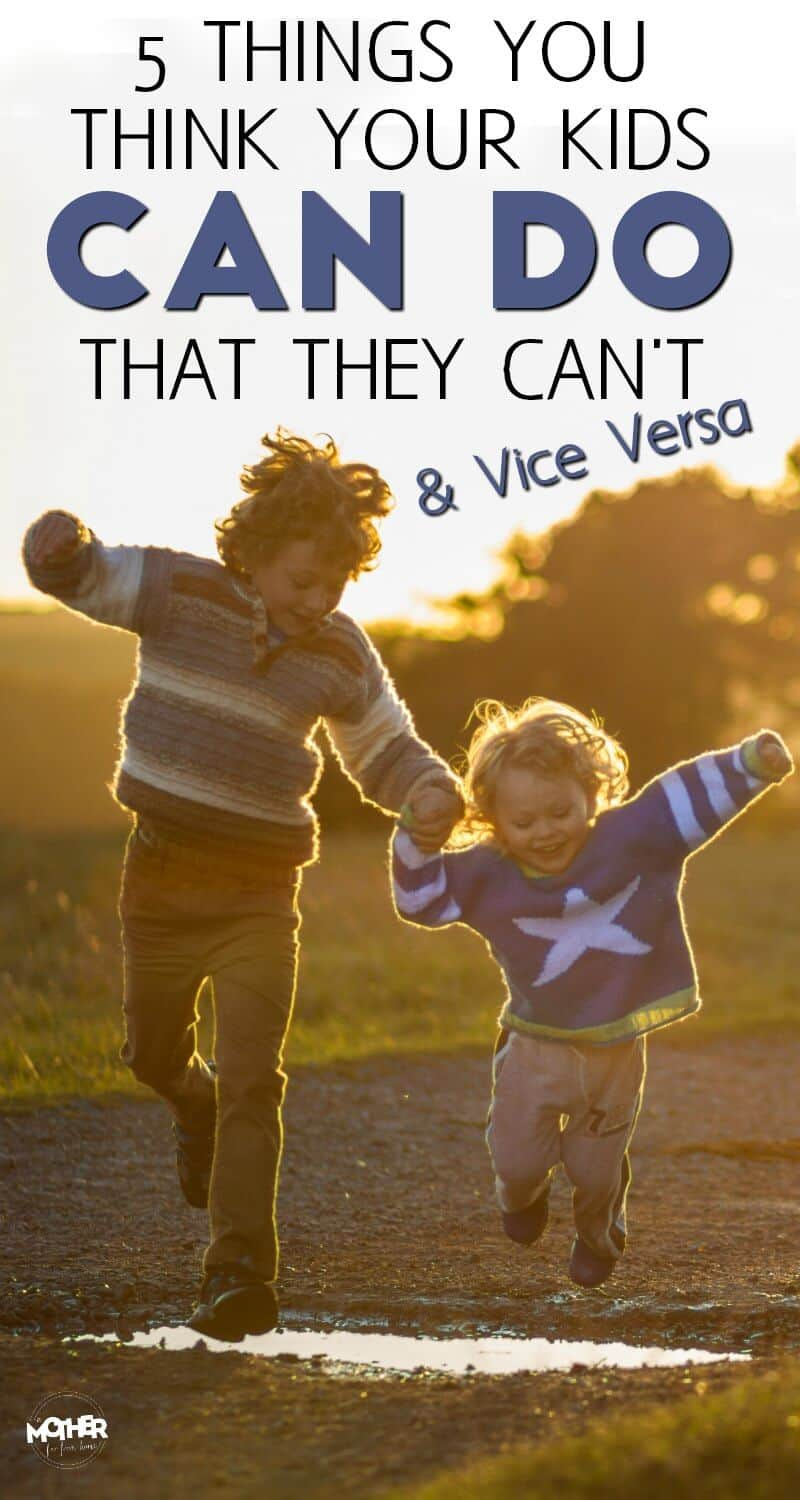 Are you a mom of babies, toddlers, or preschoolers? This may come as a shock to you, but these are the things they can't do that you think they can and the things they can you think they can't!