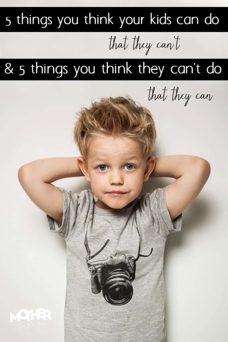 Things You Think Your Kids Can Do That They Cant And Vice Versa - Dad entertains 5 kids