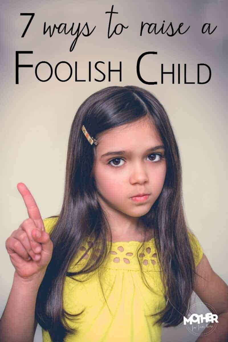a foolish child according to the bible wagging her finger