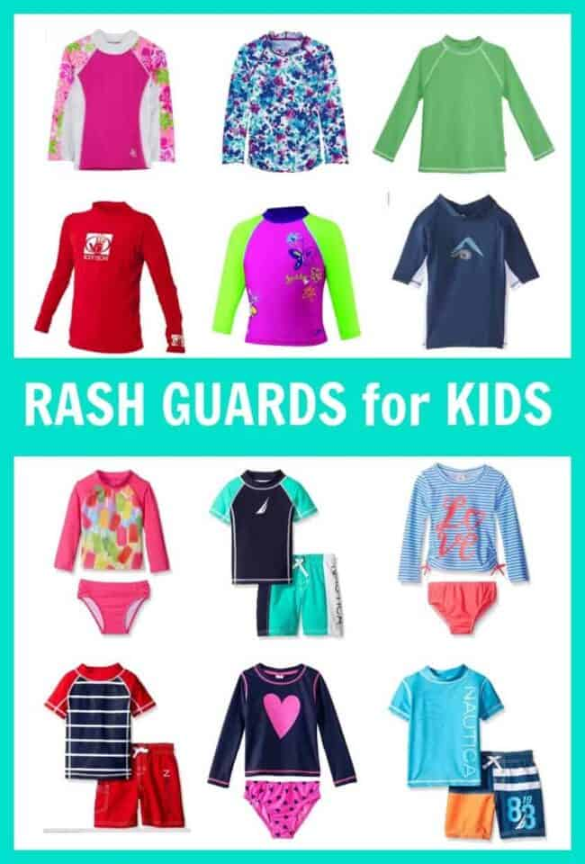 Shopping for swimsuits, bathing suits, trunks, or swimwear for kids? Here are some inexpensive, medium priced, and higher end rash guard sets for kids. Wetsuits, rashguards, and rasher shirts.