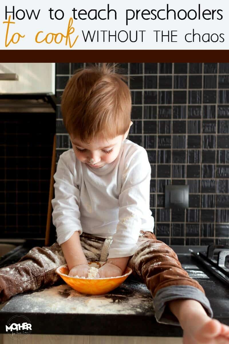 Want to teach your toddler and preschoolers to cook, but get discouraged at the stress and mess of it all? Here are some tips to help you teach the without the chaos.