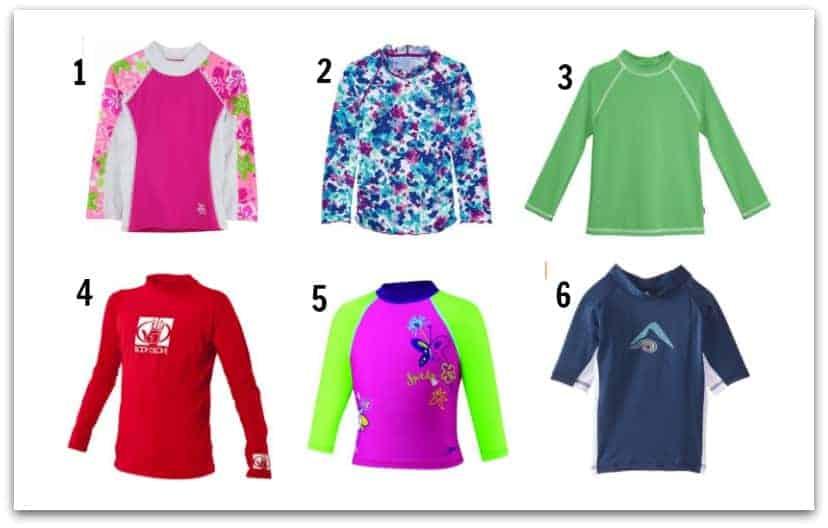 medium to higher end rash guard shirts for kids toddlers and babies
