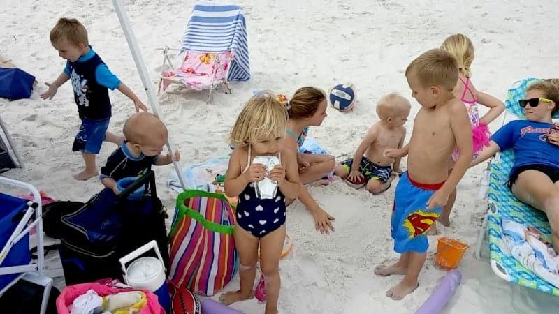 babies close beach