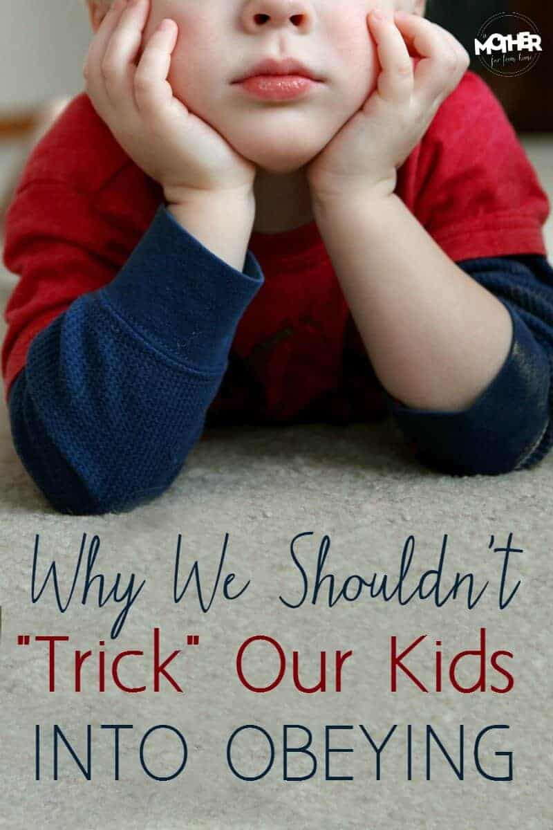 Parents of preschoolers and toddlers often try to distract, substitute, or trick their little ones into doing what they say. Here's why that isn't a good idea in the long run.