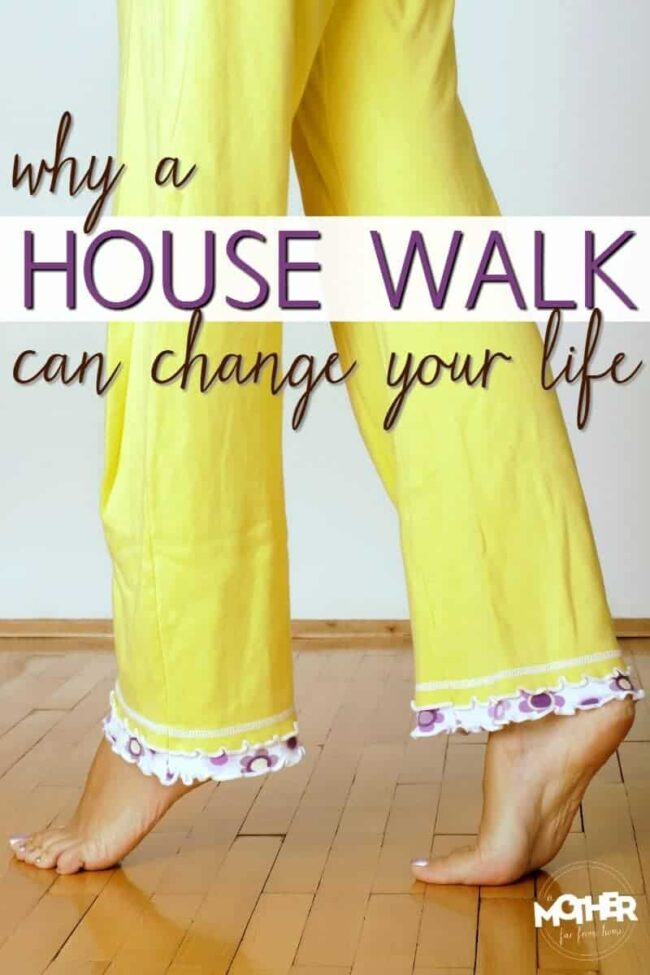 Is your home chaotic, messy, cluttered and out of control? This house walk will change your tired mamas life!