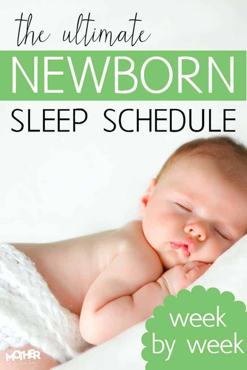 Got a newborn? This is a newborn sleep schedule that'll help you go week by week and start having a baby that is well rested. If your newborn schedule doesn't seem to be working for you, this newborn sleep schedule will do the trick and have baby sleeping in no time!